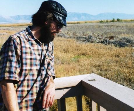 with praying mantis, Bear River Bird Refuge