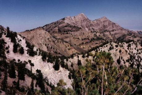 mid August 1990, Deseret Peak, Stansbury Mtns